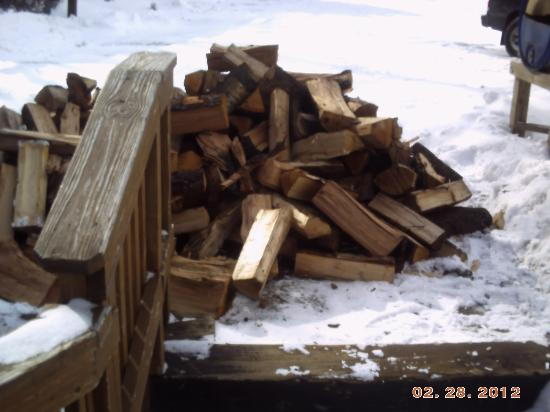"Fall Line Condominiums: ""O.K. Daryll, drop the firewood here.""  But won't that block the stairs? ""Hey, not our problem."""