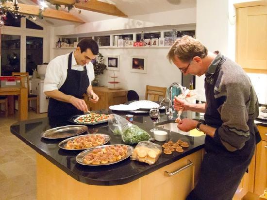 82 Fishbourne: Preparing 1500 canape