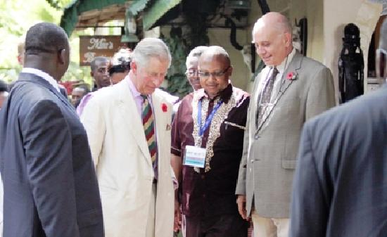 Mount Meru Game Lodge & Sanctuary: A Royal visitor to the lodge - 9th November 2011