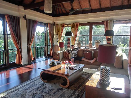 Main sitting room in villa