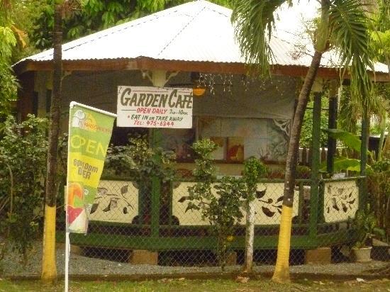 Kia's Across from The Beach: View of Garden Cafe
