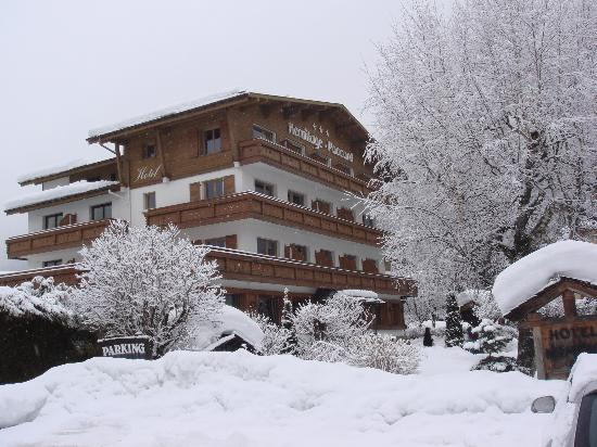Chalet Hotel Hermitage Paccard : l'hotel sous la neige