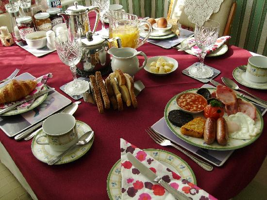 Plasnewydd Bed and Breakfast: Lay out of our breakfast