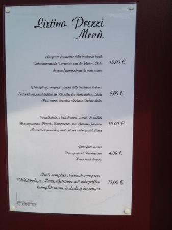 Al Caminetto : Il menù