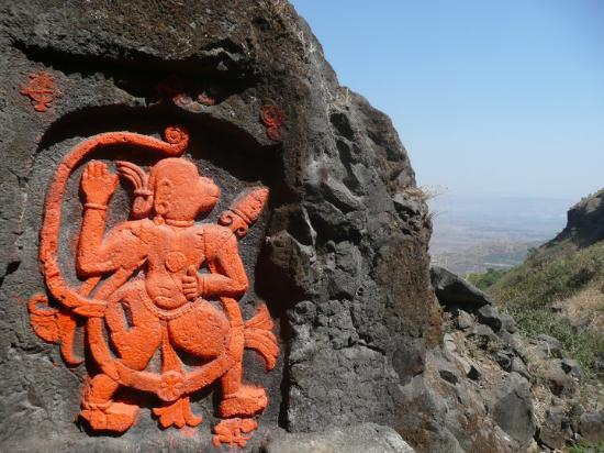 Visapur Fort: Some of the art work you can find