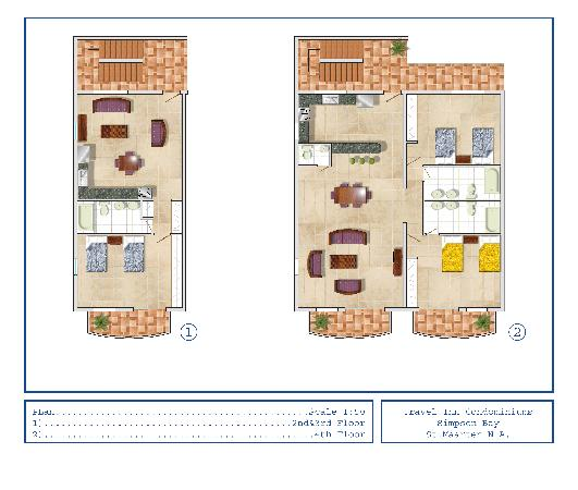 Simpson Bay Suites: 1 & 2 BDR Lay Out