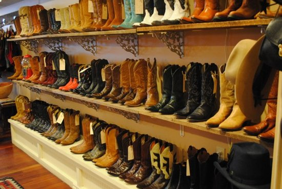 Bend, OR: Our wall of vintage boots