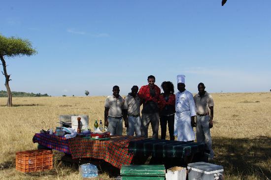 Ngerende Island Lodge: Petit déjeuner dans la savane