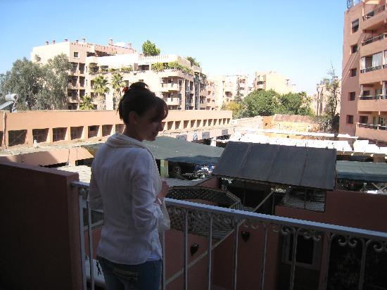 Corail Hotel: vue depuis notre balcon