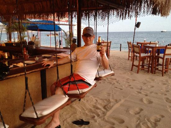 ME Cabo: Swing seats at Baja Cantina. GO THERE!