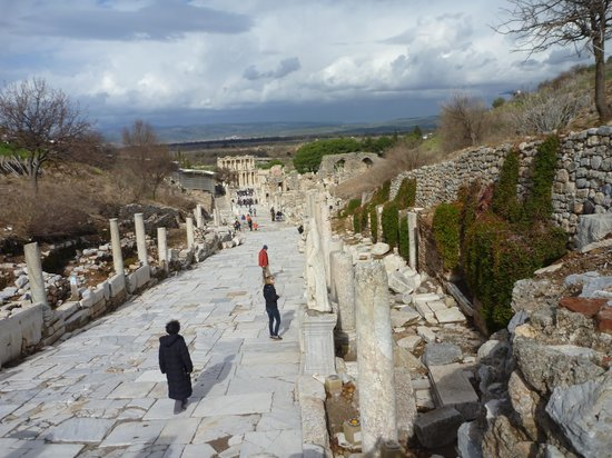 Tayf Tours: Pathway through Ephesus