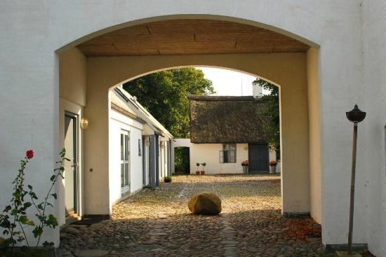Laesoe Island, الدنمارك: Kig ind på gårdspladsen
