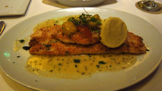 Wildfish Seafood Grille : Lemon sole with heirloom tomatoes