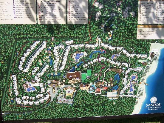 Map Picture Of Sandos Caracol Eco Experience Resort