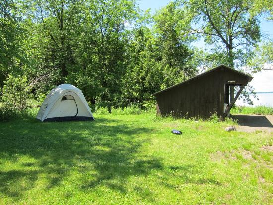 Lake Champlain Islands, VT: Willow lean-to