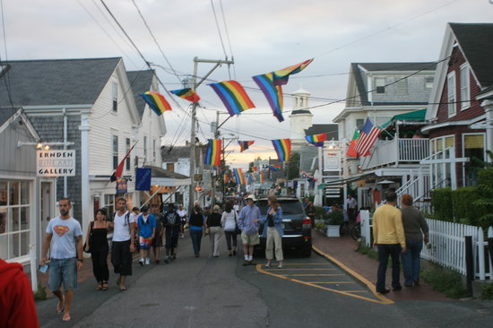 Provincetown, MA: View north on south Commercial Street.