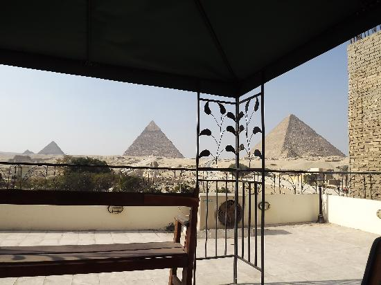 Pyramids View Inn: View from the hotel rooftop