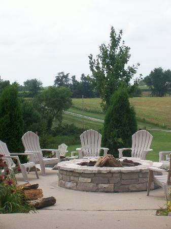 Fireside Winery: one of the firepits behind the winery