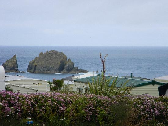 Mother Ivey's Bay Holiday Park : The view from our pitch