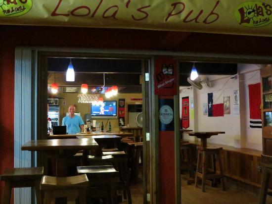 Lola's Pub & Grill : Street view of Lola's