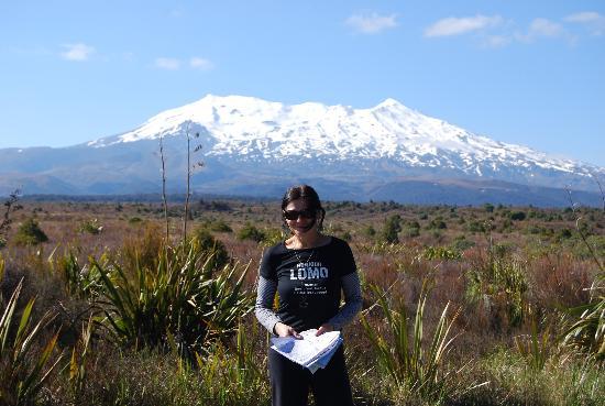 Whakapapa, Nueva Zelanda: При подъезде к началу маршрута по вулканам
