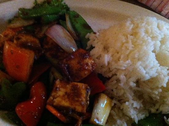 Laut: Nasi with tahu goreng