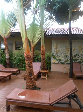 Nipa Resort: small seating area, just near pool.