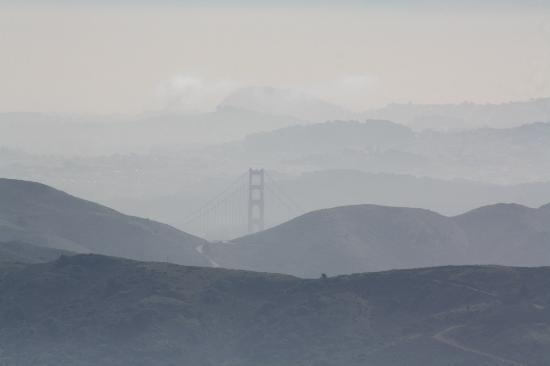 Holiday Inn Express Mill Valley San Francisco Area: view of golden gate bridge from mount tamelpais