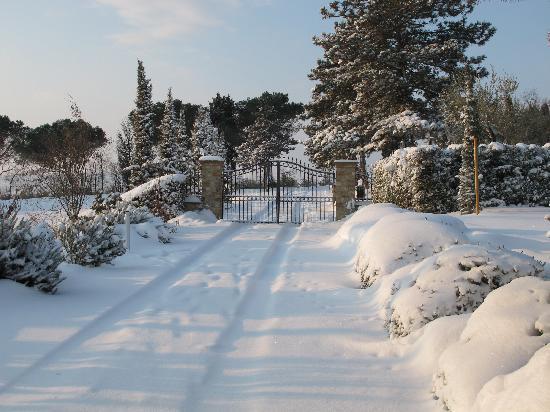 snow at la palazzetta del vescovo