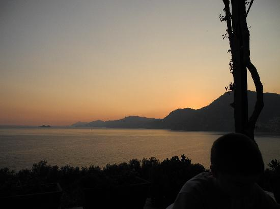Hotel Le Sirene: Balcony at sunset