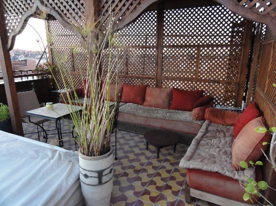 Hotel La Maison Nomade : Gemütliche Lese-, Schlaf- und Schreib-Ecke auf dem Dach