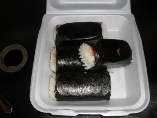 Ono Kau Kau Mixed Plate: Spam musubi