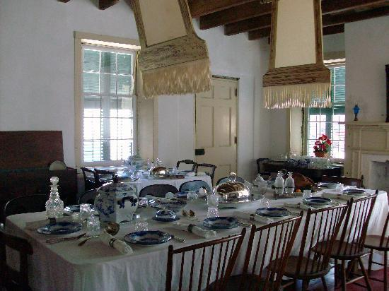 The Ximenez-Fatio House: Historic dining room in Museum