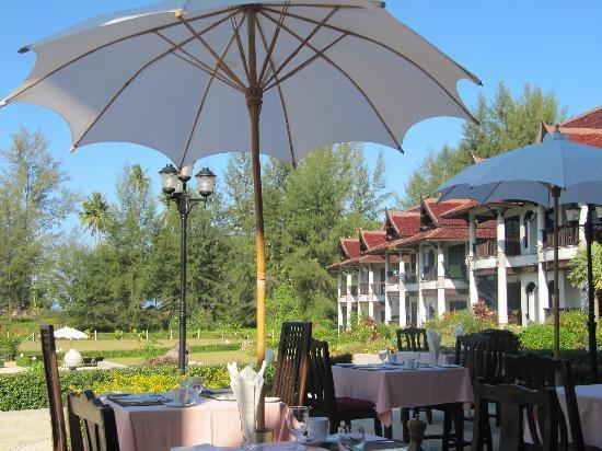 Khao Lak Riverside Resort & Spa : Blick von der Frühstücksterrasse