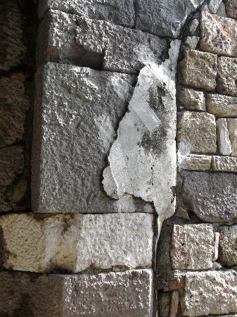 Antikhan Hotel: Agora d'Izmir, détail des murs