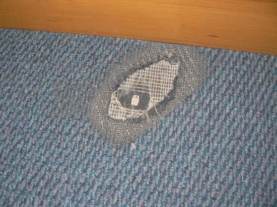 City Golf Resort Hotel : Hole in carpet