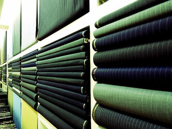 Fabric Selections at Empire Tailors, Bangkok