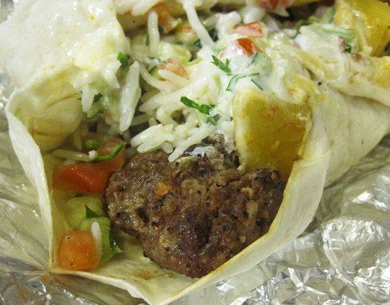 Maza Kabob: beef wrap combo