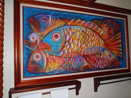 Villa Verano: Painting in Fish Bedroom
