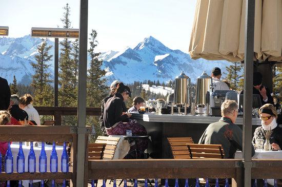 Bon Vivant, located at the top of Polar Queen Express (lift 5) at Telluride Ski Resort