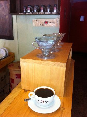 The Refuge Coffee Bar: The pour over coffee bar