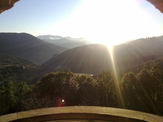 Auberge La Borie: Vue de la chambre lever du soleil
