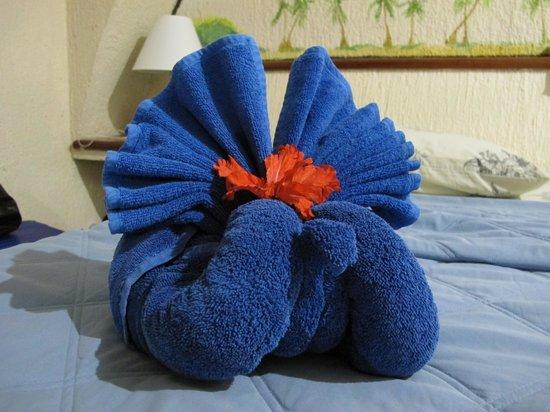 Villas DeRosa Beach Resort : new towel sculptures every day
