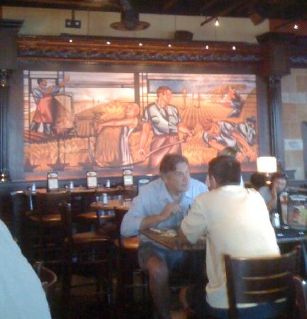 BJ's Restaurant & Brewhouse : Photo of Mural in Bar Seating area