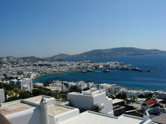 Mykonos View Hotel: Vista da piscina