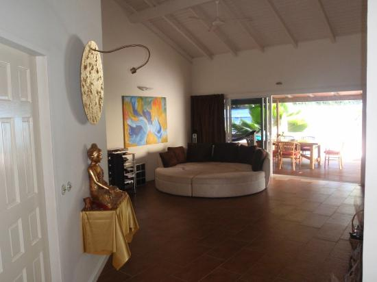 Frangipani Apartments Curacao: Pelican Wohnzimmer