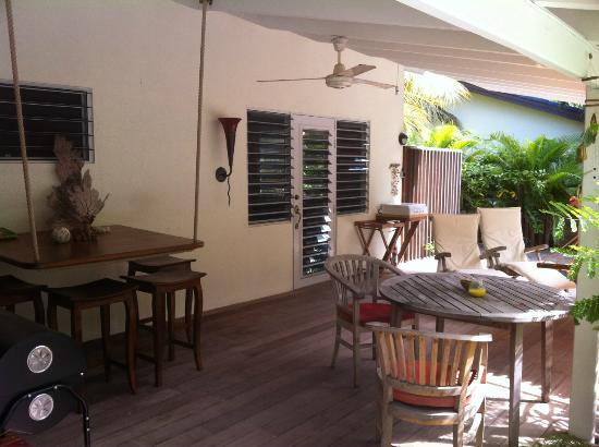 Frangipani Apartments Curacao: Iguana Veranda