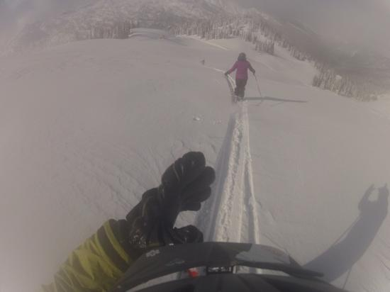 Great Northern Snowcat Skiing: snowing every day made for fresh pow