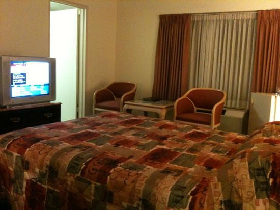 Howard Johnson Plaza Hotel Windsor: tv and sitting area