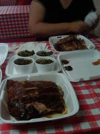 Sully's Smokehouse: These are two half-rack dinners!